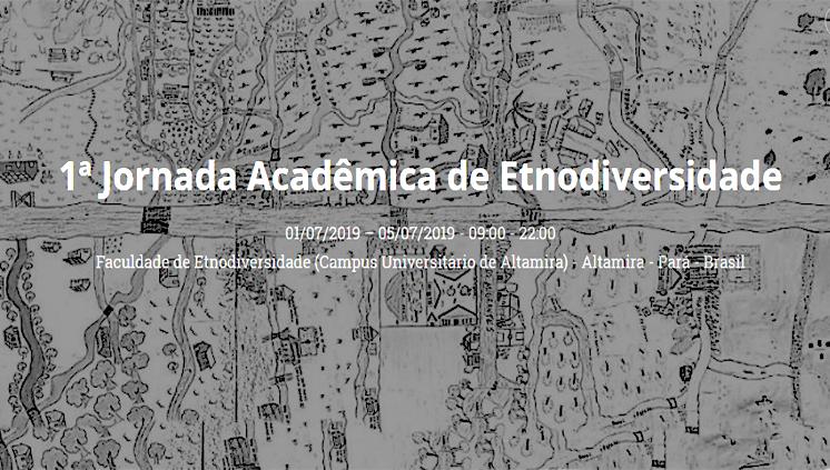 Inscrições para a I Jornada Acadêmica de Etnodiversidade vão até 27 de junho