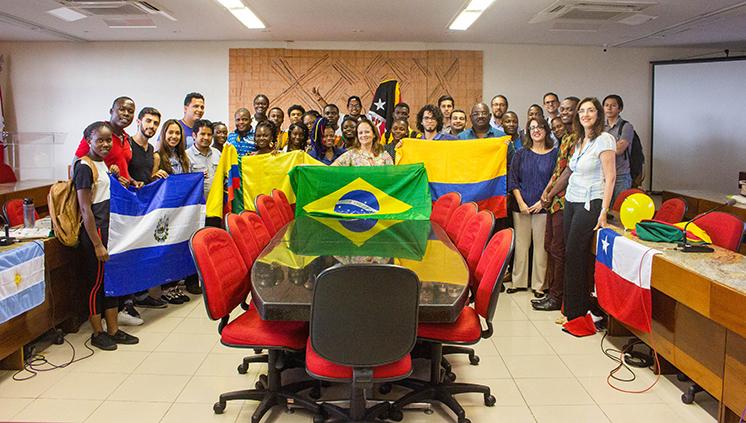 Estudantes estrangeiros têm programação de acolhimento na Semana do Calouro