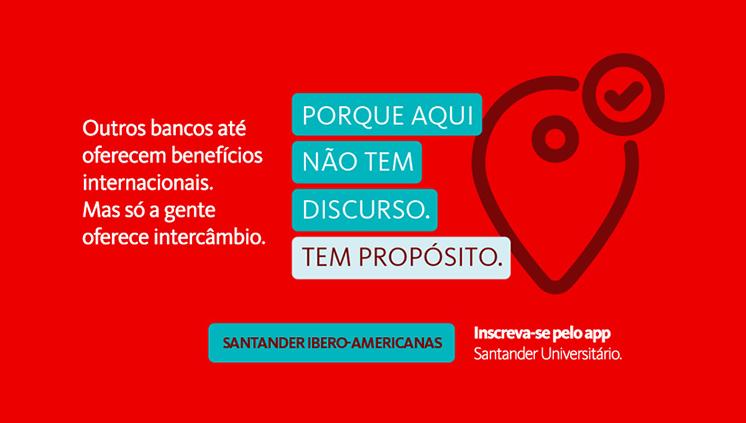 Abertas as inscrições para o Santander Universidades Bolsas Ibero-Americanas/2019