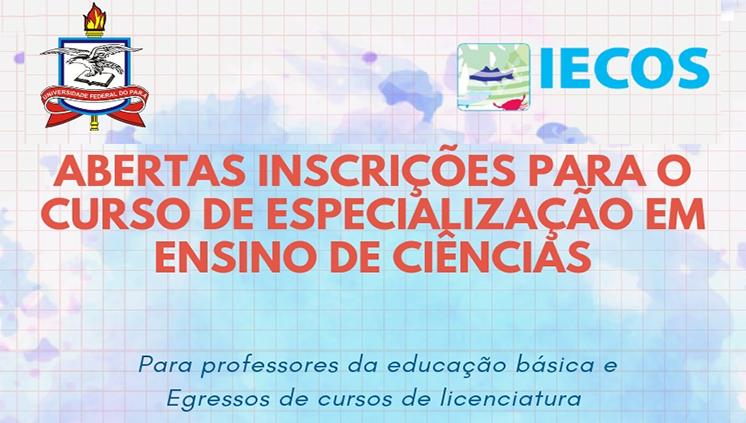 Inscrições abertas para Especialização em Ensino de Ciências do Instituto de Estudos Costeiros