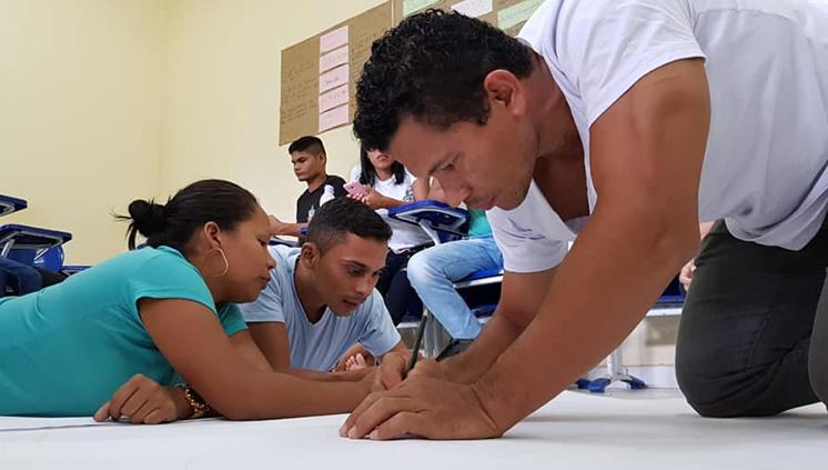 Estudantes do Campus da UFPA do Marajó realizam a exposição sobre Cartografias Escolares de Povos e Populações Tradicionais