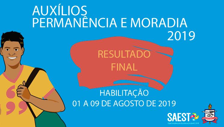 SAEst publica resultado final dos auxílios Permanência e Moradia 2019