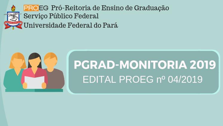 Proeg inicia seleção de projetos para o PGRAD-Monitoria