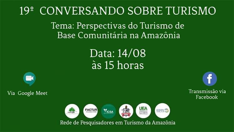 Turismo de Base Comunitária será tema de debate em evento on-line