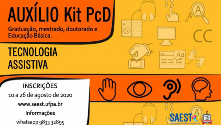 Inscrições abertas para o Auxílio Kit PcD de Tecnologia Assistiva para a inclusão digital