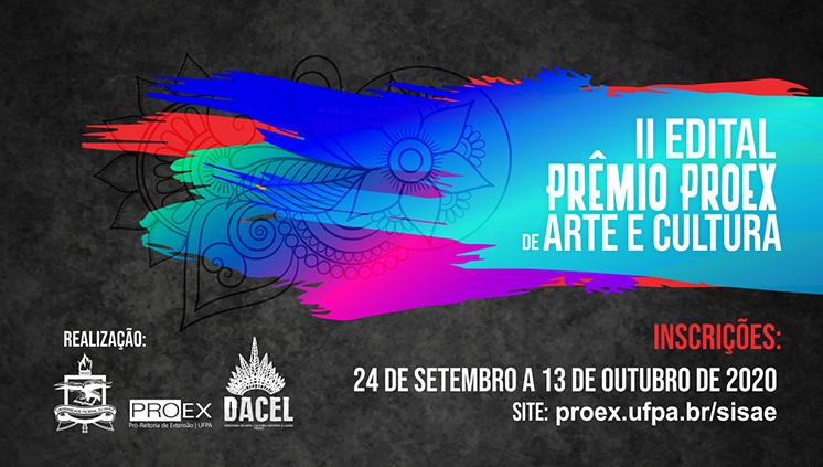 Proex lança edital do Prêmio Arte e Cultura 2020