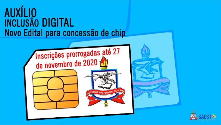 UFPA prorroga inscrição para concessão de chip do Auxílio Inclusão Digital