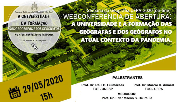 Faculdade de Geografia e Cartografia inicia programação da Semana de Geografia nesta sexta, 29