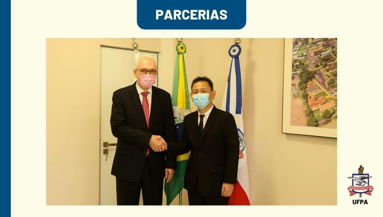 Reitor da UFPA recebe a visita do cônsul principal do Japão em Belém