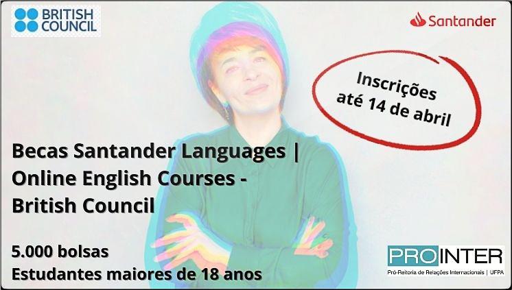 Santander e British Council oferecem bolsas de estudo de língua inglesa