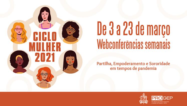 Progep promove ciclo de webconferências em comemoração ao Dia Internacional da Mulher