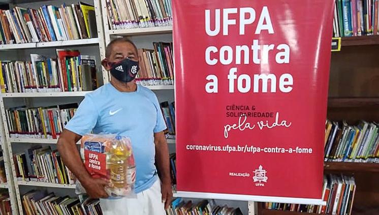 Cestas básicas arrecadadas pela Campanha UFPA contra a fome chegam às famílias do bairro do Guamá
