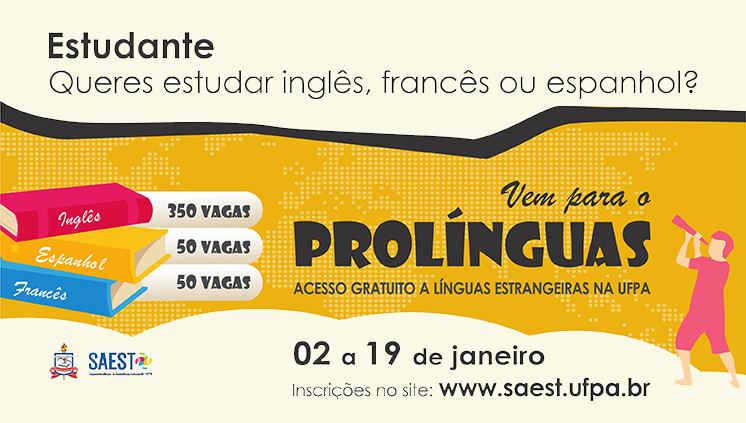 Inscrições para o Prolínguas encerram-se nesta sexta-feira, dia 19