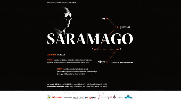 """Exposição """"SARAMAGO – os pontos e a vista"""" será aberta nesta sexta-feira, 14"""