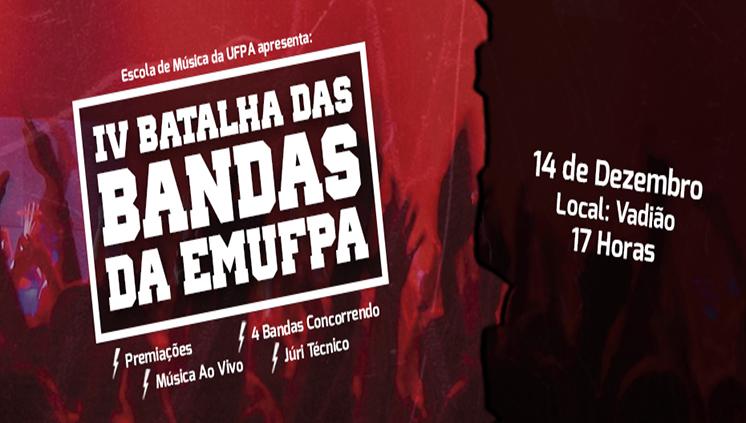 Escola de Música da UFPA promove IV Batalha de Bandas nesta sexta-feira, dia 14