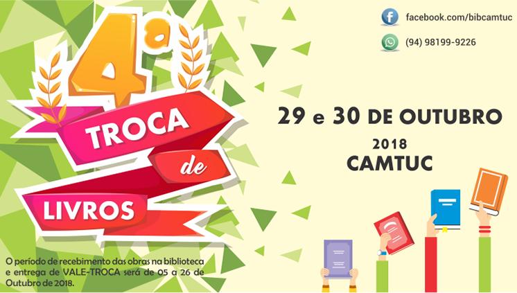 Campus de Tucuruí comemora o Dia Nacional do Livro com a 4ª Troca de Livros nos dias 20 e 30 de outubro